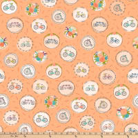 Ink & Arrow Scenic Route Bike & Floral Medallions Apricot