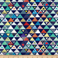 QT Fabrics Wild Side Set Triangles Navy
