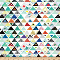 QT Fabrics Wild Side Set Triangles White