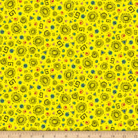 QT Fabrics Wild Side Tossed Geometrics Yellow