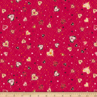 QT Fabrics With Love Medium Hearts Red