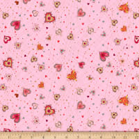 QT Fabrics With Love Medium Hearts Pink