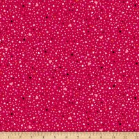 QT Fabrics With Love Tiny Hearts Red