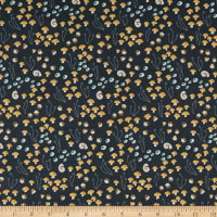 Cloud9 Fabrics Underwood Stories Shrooms in Bloom Fall Navy
