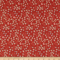 Cloud9 Fabrics Underwood Stories Shrooms in Bloom Summer Red