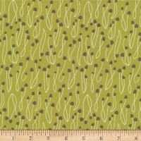 Cloud9 Fabrics Underwood Stories All Caps Summer Green