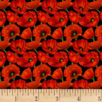Prairie Lane Small Poppies Red