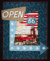 """All American Road Trip 36"""" Panel Navy"""