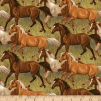 Hold Your Horses Running Horses Brown Multi