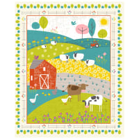 "Wildflower Farm  Novelty 36"" Panel Multi"
