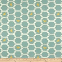 Birch Organic Mod Nouveau Honeycomb Knit Mint/Metallic