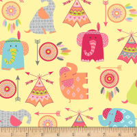 Boho Baby Boho Motifs Tossed Yellow