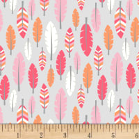 Boho Baby Feathers Pink