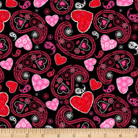 Hearts of Love Paisley Black