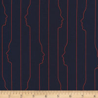 Cloud9 Fabrics Business Class Rayon Challis Sculptor Navy