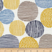 Cloud 9 Organic Homestyle Barkcloth Stepping Stones Citron