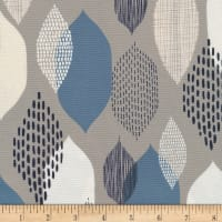 Cloud 9 Organic Modern Abstractions Canvas Ground Cover Grey/Blue