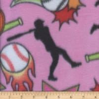Fleece Print Softball Pink
