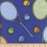 Fleece Print Tennis Blue