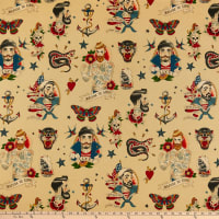 Alexander Henry Fabrics Anchors Away Dark Tea