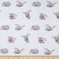 Springs Creative Disney Classics Dumbo Many Faces Of Dumbo Grey
