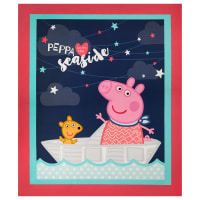 "Springs Creative Peppa Pig Peppa The Seaside 36"" Panel Multi"