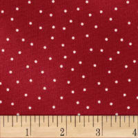 Maywood Studio Beautiful Basics Scattered Dot Red Natural