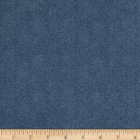 Maywood Studio Woolies Flannel Herringbone Dusty Blue