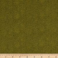 Maywood Studio Woolies Flannel Herringbone Green