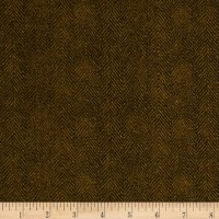 Maywood Studio Woolies Flannel Herringbone Brown