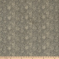 Maywood Studio Woolies Flannel Herringbone Black Brown
