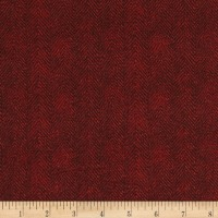Maywood Studio Woolies Flannel Herringbone Red