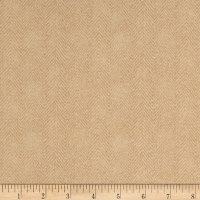 Maywood Studio Woolies Flannel Herringbone Beige