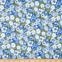 Liberty Of London Orchard Garden Peach Bloom Blue