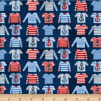 A Whale Of A Time Striped T-Shirts Navy