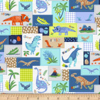 Hear Me Roar! Patchwork Blue