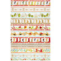 "Loralie Designs Whoa Girl! Border 24"" Panel White"