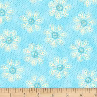 Carrot Patch Monotone Daisy Blue
