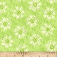 Carrot Patch Monotone Daisy Green