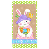 "Carrot Patch Bunny 24"" Panel Multi"