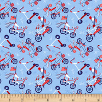 Patriotic Parade Bicycles Light Blue