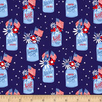 Patriotic Parade Patriotic Jars Dark Blue