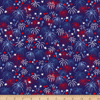 Patriotic Parade Fireworks Dark Blue