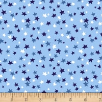 Patriotic Parade Small Stars Light Blue