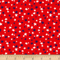 Patriotic Parade Small Stars Red