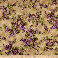 Maywood Studio Aubergine Elegant Floral Antique