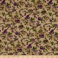 Maywood Studio Aubergine Trailing Flowers Antique