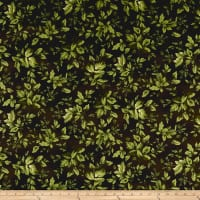 Maywood Studio Aubergine Tonal Leaves Deep Green