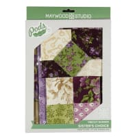 Maywood Studio Table Runner Quilt Kit Aubergine Sister's Choice Multi