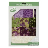 Maywood Studio Quilt Kit Aubergine Irish Chain Multi